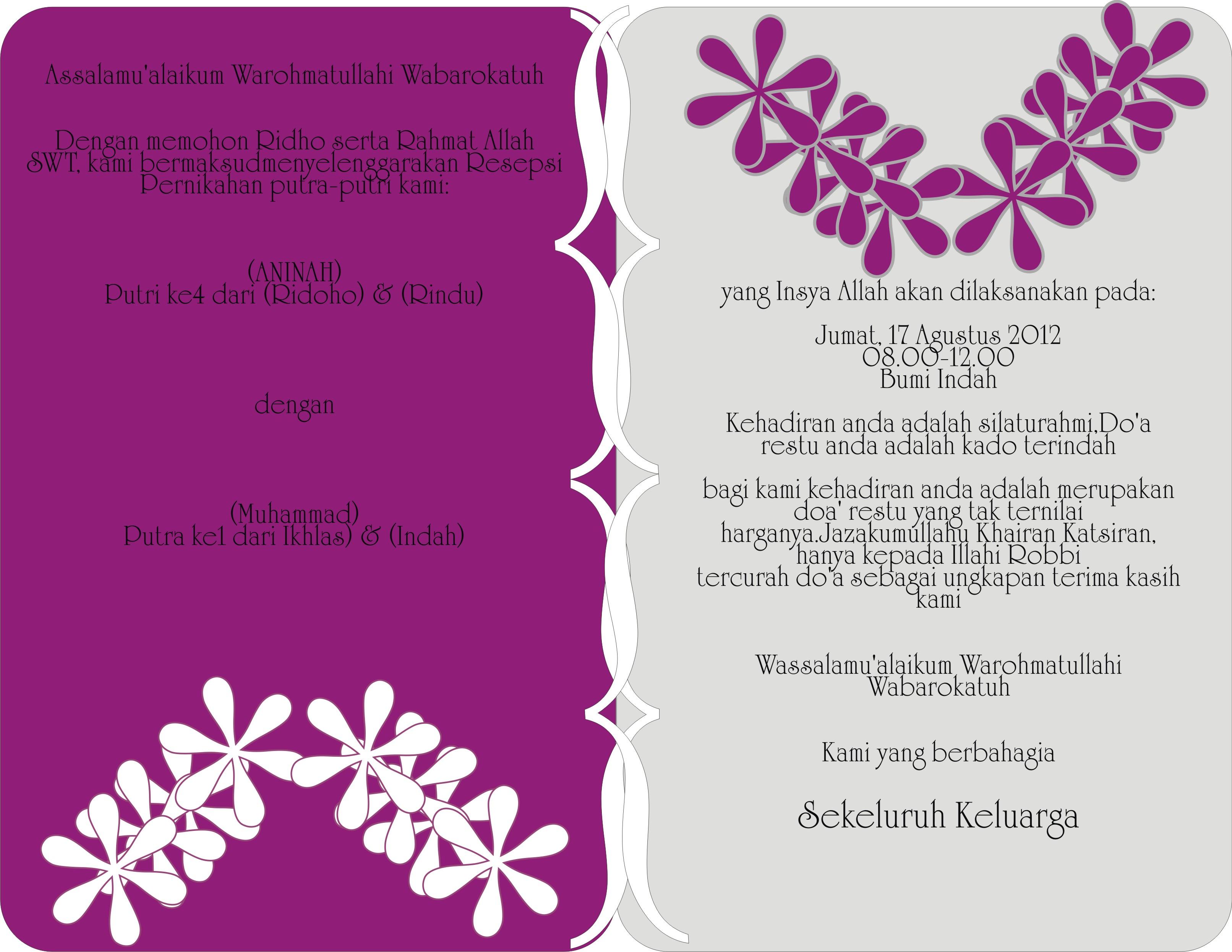 Desain Undangan Pernikahan Anim