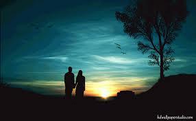 Romantik malam ditemani  terangnya bulan dan bintang berkilau