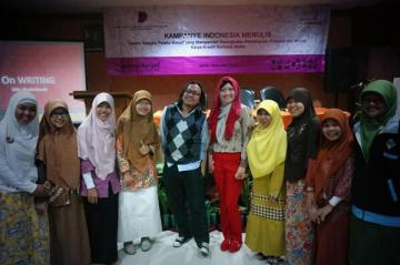Kampanye Indonesia Menulis bareng para calon penulis terkenal