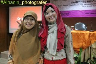 Kampanye Indonesia Menulis. Alhanin&mba Ollie